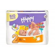 Happy Mini (2) méretű pelenka 3-6 kg, BIG PACK 78 db Bella Baby
